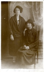 2012-04-01-18-42-35-00 -- Standing: Emily Bellamy (née Emily Ellis 1883-1978) Seated: Unknown