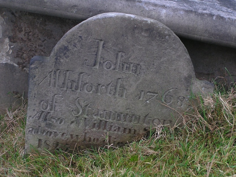 John Ashforth died 1768, William Ashforth died 1825