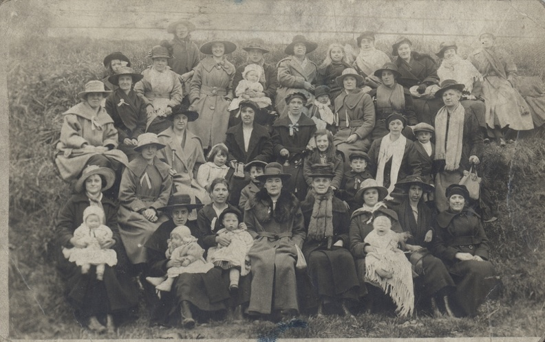 Front row 4th from right Elizabeth Wild (née Flowers) 1867-Deceased