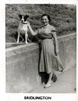 Emily Ashforth (née Emily Bellamy) 1903-1992 and Spot - Bridlington, Yorkshire, England
