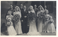 2017-01-13-15-37-26-00 -- Mother and Ronald Jacklin, Wedding, Wadsley Church, Sheffield, 1947